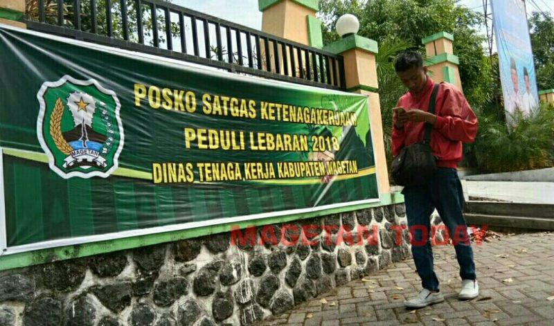 Posko Satgas Ketenagakerjaan,Disnaker Kabupaten Magetan.