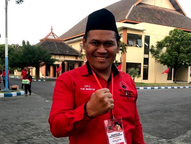 Sujatno, Ketua DPC PDI Perjuangan Kabupaten Magetan. ( Ist For Magetan Today)