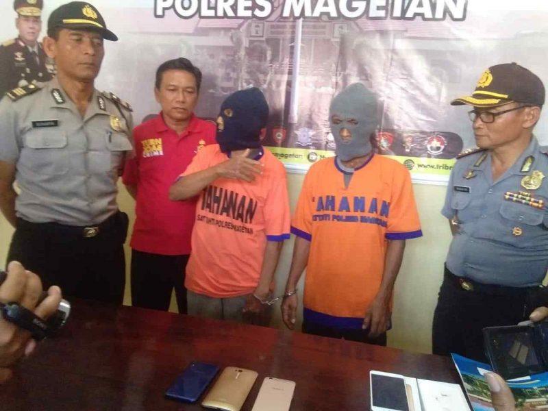 Gunari dan Wariyanto Di Interogasi Polisi. ( Norik/Magetan Today)