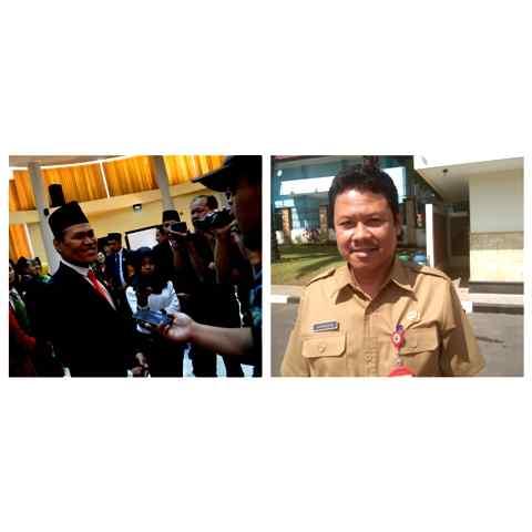 Sujatno, Ketua DPRD Kabupaten Magetan dan Suwata, Kepala Dinas Dikpora Kabupaten Magetan. ( Norik/Magetan Today).