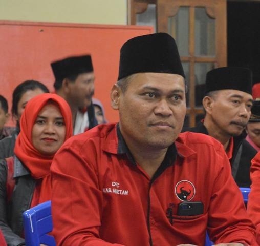 Sujatno, Ketua DPC PDI Perjuangan Magetan. (Norik/Magetan Today).