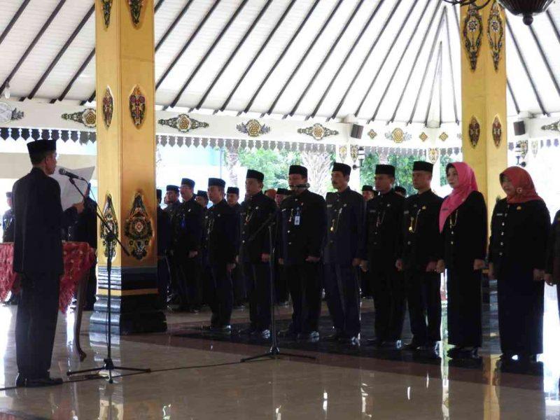 Pelantikan Kepala OPD Oleh Bupati Magetan, Suprawoto, Di Pendopo Surya Graha Magetan. ( Norik/Magetan Today).