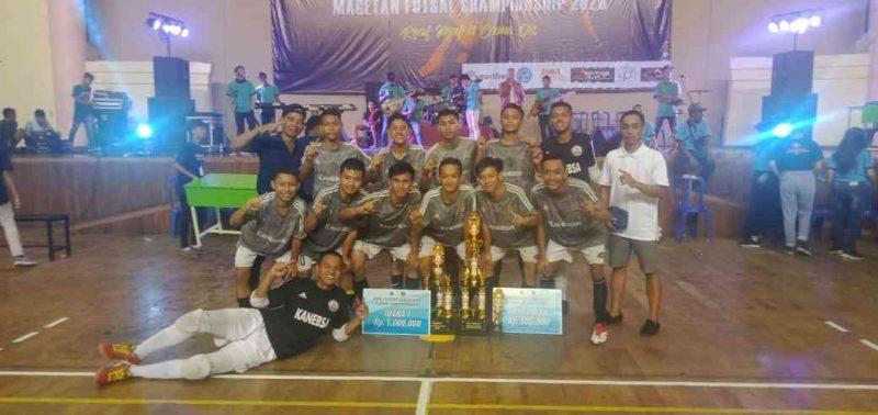 Tim Futsal SMKN 1 Bendo Juara Copa Student League (CSL) Magetan Futsal Championship Tahun 2020. ( Ist For Magetan Today)