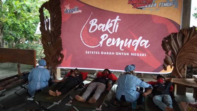 Kegiatan Sosial Donor Darah Yang Digelar Komunitas Heppiii Community Madiun Raya.( Istimewa)
